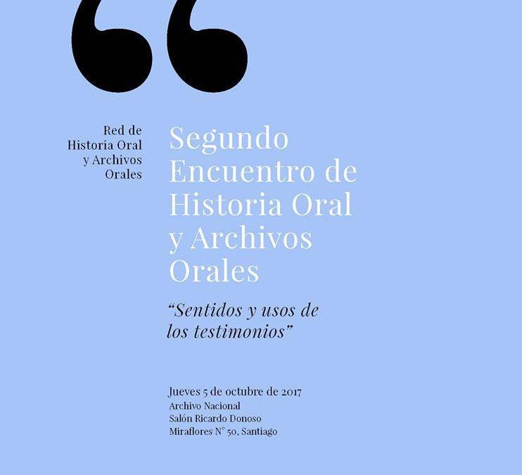 """Proyecto """"Memorias de Chuchunco"""" dice presente en el Segundo Encuentro de Historia Oral (Santiago, octubre de 2017)"""